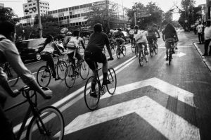 cycle group in street